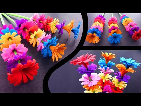 How to Make A Sticky Gift Flower | Easy Flowers Making | Handmade Gift Ideas : DIY Paper Crafts