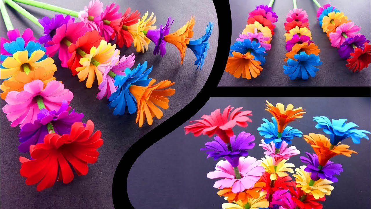 How To Make A Sticky Gift Flower Easy Flowers Making Handmade