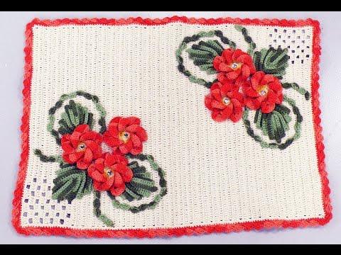 Programa Arte Brasil - 08/01/2015 - Maria José - Tapete Laço Flores em Crochê