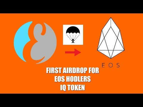 FIRST AIRDROP FOR EOS HOLDERS IQ TOKEN BY EVERIPEDIA