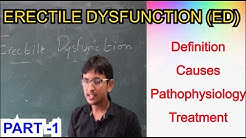 Erectile dysfunction (ED)- Definition, Causes, Pathophysiology & Treatment Modalities Part-1