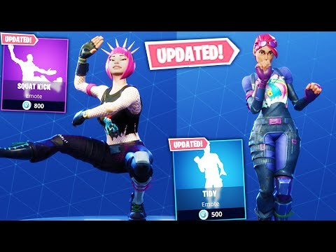 FORTNITE ALL *NEW* UPDATED DANCES & EMOTES WITH FACIAL EXPRESSIONS! SQUAT KICK, TIDY,  AND MORE!