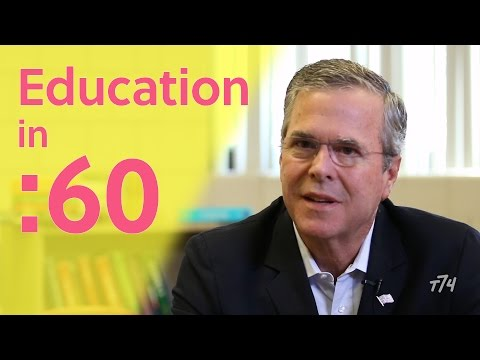 60 Candid Seconds with Jeb Bush on Education