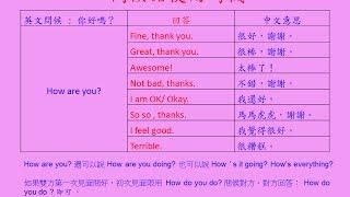 英文基礎文法 01 - 招呼語及專有名詞 (English Basic Grammar - Greeting and proper nouns) thumbnail