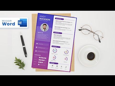 Creative Resume design in Microsoft Word (2020)