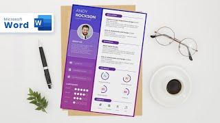Creative Resume design in Microsoft Word (2020) screenshot 2