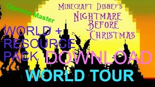 Minecraft PC - Nightmare Before Christmas - World Tour + Resource pack + Download