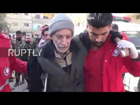 Syria: Civilians leave E. Ghouta's Douma through humanitarian corridor