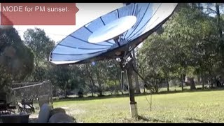 Dan Rojas Solar Cooker inexpensive mass distribution Parabolic Oven Cooking FREE ENERGY