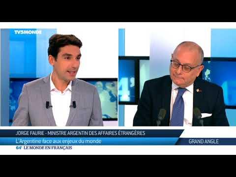 Jorge Faurie, ministre argentin des Affaires étrangères sur TV5MONDE