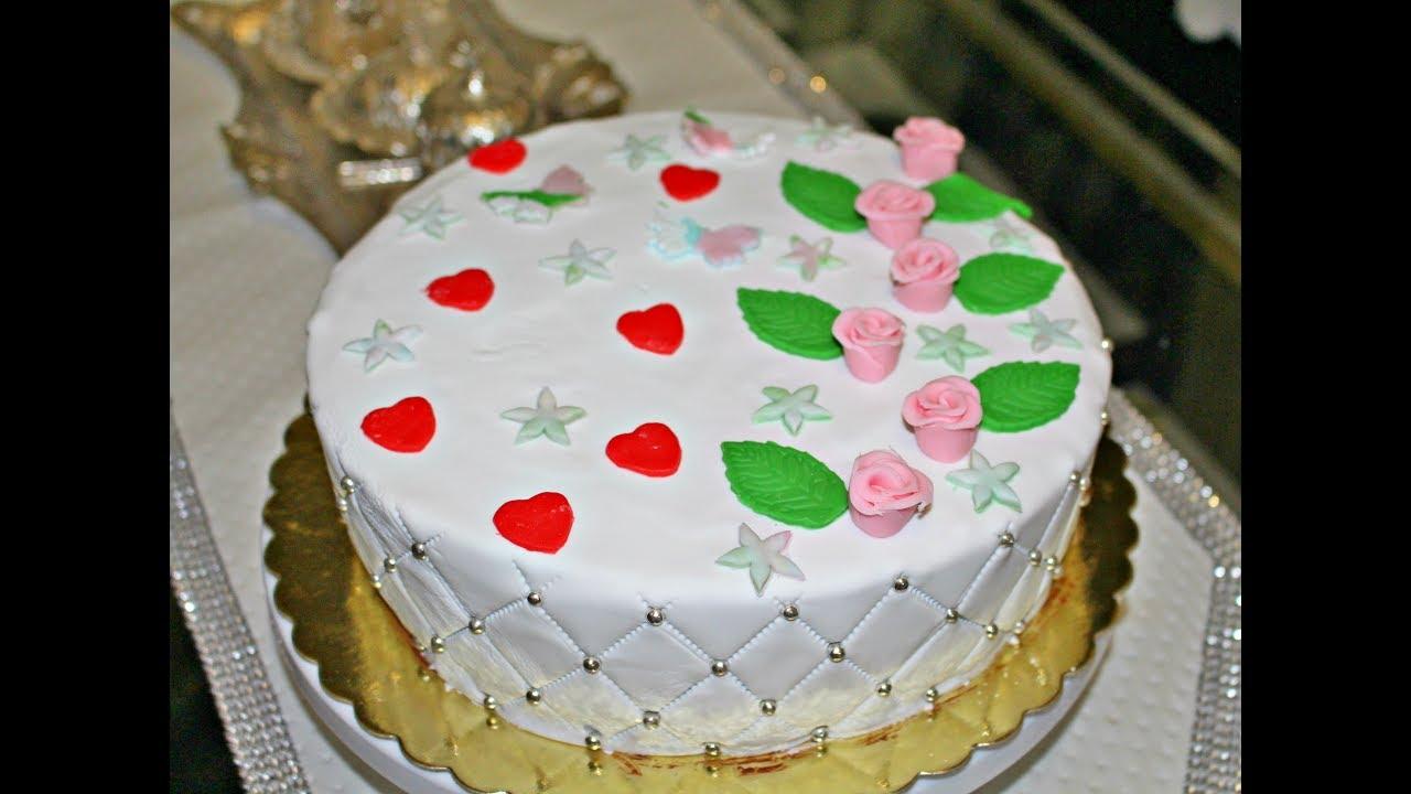 Her aşamasıyla şeker hamurlu pasta yapımı (ilk kez yaptım sizde yapabilirsiniz kesinlikle !!)