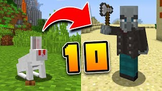 10 SECRET MOB WEAKNESSES in Minecraft! (Pocket Edition, PS4, Xbox, Switch, PC)