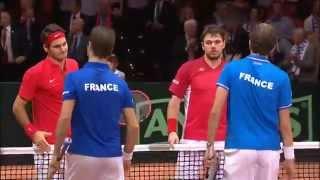 Final Copa Davis 2014: resumen de FRA 1 v SUI 3