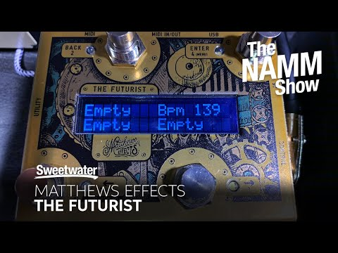 Matthews Effects The Futurist MIDI Controller at Winter NAMM 2020