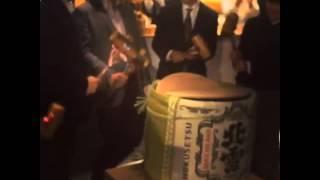 Kagami Biraki (鏡開き) at Bunka Hostel Tokyo