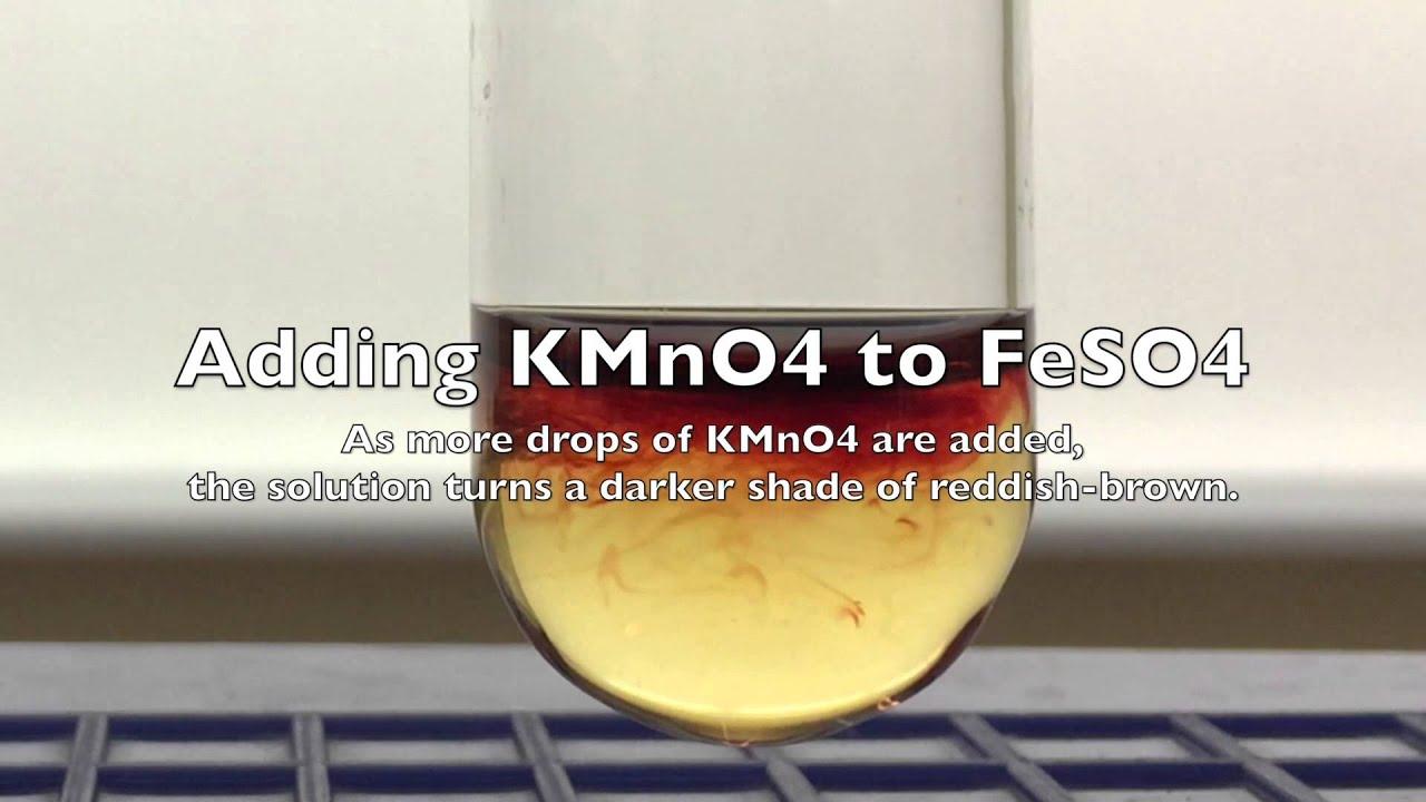Oxidation Of Iron Ii To Iron Iii Using Potassium