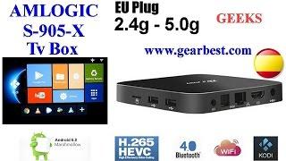 TV Box AMLOGIC S905X H.265 Unboxing y test en Español.