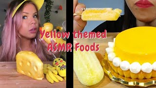 Rating Yellow Themed ASMR Foods