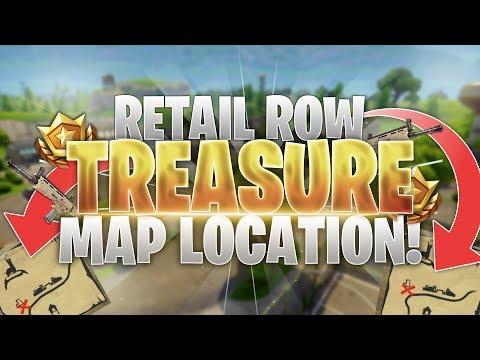 Retail Row Treasure Map Loot Location! Fortnite Battle Royale Guide!