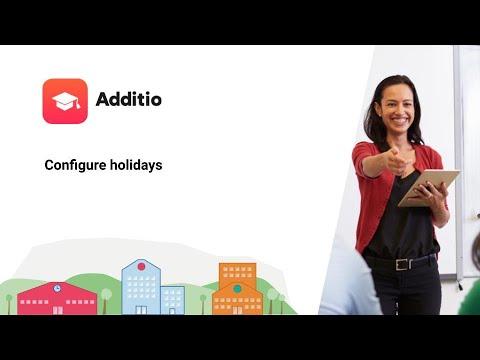 Configure holidays