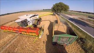 Современные технологии в сельском хозяйстве !!!  Claas Lexion , Fendt Xylon , Mercedes Benz Actros