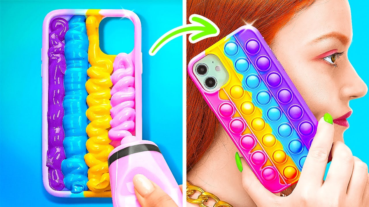 Download AWESOME DIY SQUISHY IDEAS THAT EASY TO MAKE || Phone Case Ideas by 123 GO! SCHOOL