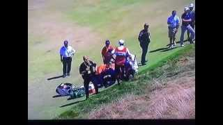 Jason Day falls, collapses and almost passes out from vertigo US Open 2015