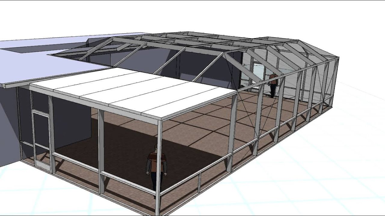 Composite Metal Panel Roof : Proposed pool enclosure with composite panel roof youtube