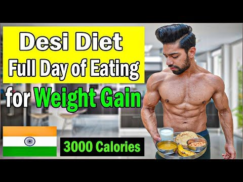 Full Day of Eating to GAIN WEIGHT Fast | Desi Indian Diet with Powerus thumbnail