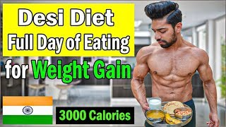 Full Day of Eating to GAIN WEIGHT Fast | Desi Indian Diet with Powerus