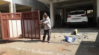 Sliding with  folding  main  gate