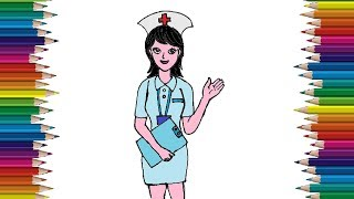 How to draw a nurse cute and easy step by step