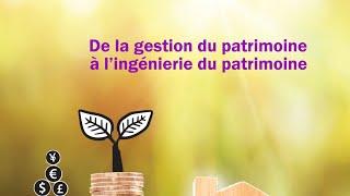 """01/10 Colloque CRJP """"De la gestion du patrimoine à l'ingénierie du patrimoine"""" : introduction"""