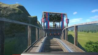 Planet Coaster Dragonflight wooden coaster night and day POV