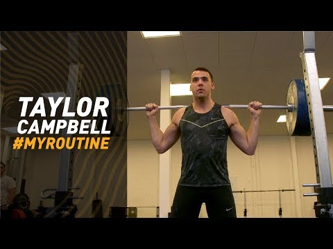 #MyRoutine // Taylor Campbell - hammer thrower's gym session