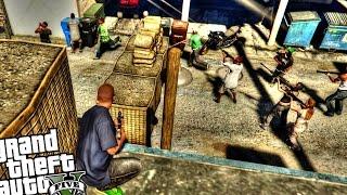 Gangster Base vs Police Raid - GTA 5 PC MOD