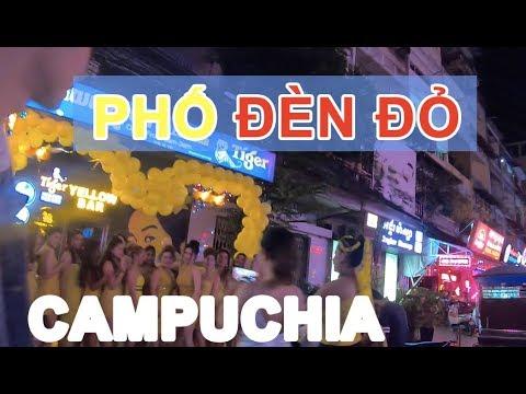 VLOG I DU LỊCH TỰ TÚC CAMPUCHIA #6 Khám phá phố ĐÈN ĐỎ | Phong Bụi
