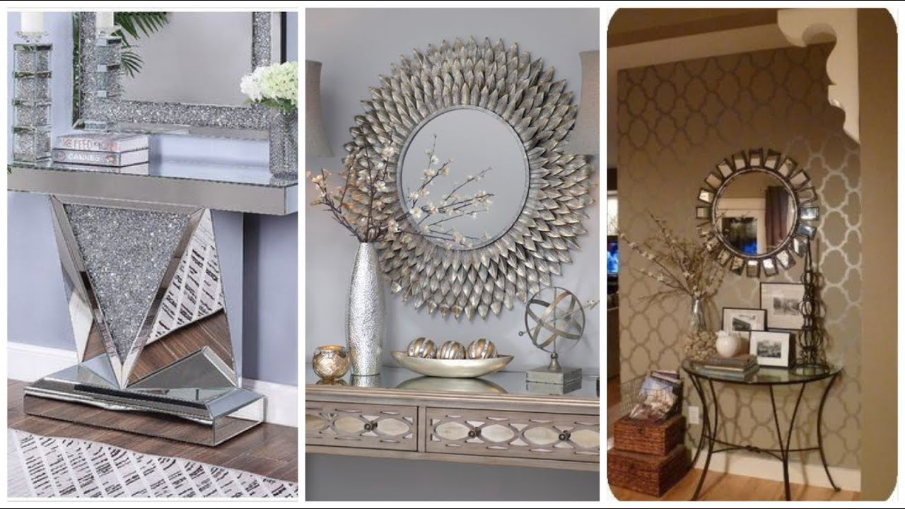 Most beautiful & creative wall mirror design for bedroom,main enter way corner decor ideas