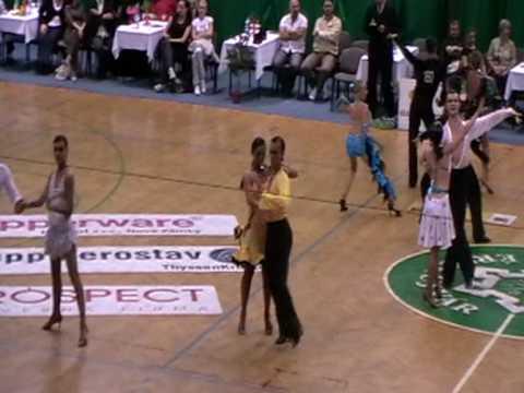 Fazekas Mate-Fehervari Barbara  I. hely, rumba  /2009.Érsekújvár / Latin tánc