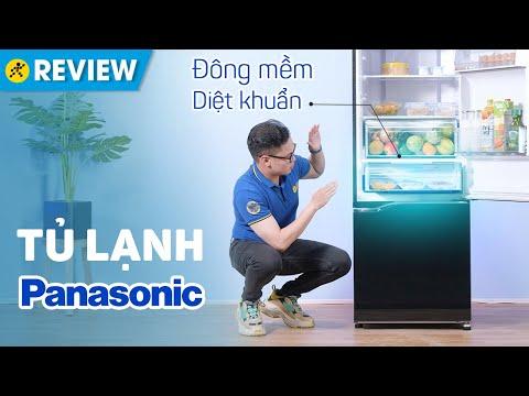 Tủ lạnh Panasonic Inverter 322L: cấp đông mềm diệt khuẩn, ngăn lạnh trên (BV360GKVN) • Điện máy XANH