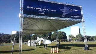 Mockup Gripen NG Projeto FX2 na Esplanada dos Ministérios