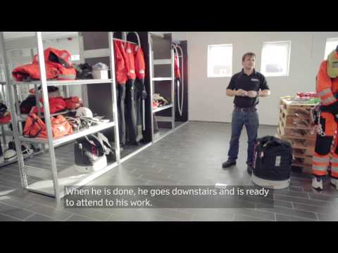 New domicile in Esbjerg ready to service Horns Rev 2 Offshore wind farm (English subtitles)