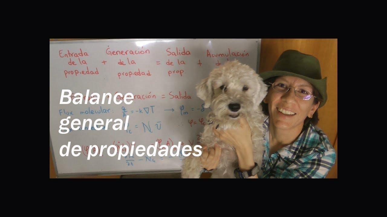 7. Balance general de propiedades en fenómenos de transporte
