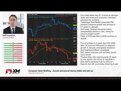 Forex News: 06/02/2019 - Aussie and pound slump; dollar and yen up