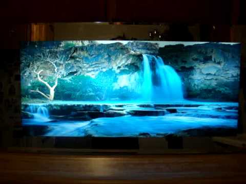 Moving waterfall hanging picture - YouTube