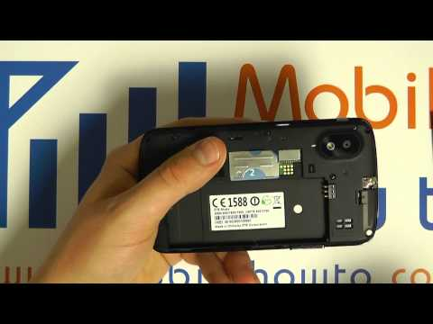 How To Insert & Remove MicroSDHC Memory Card - ZTE Skate