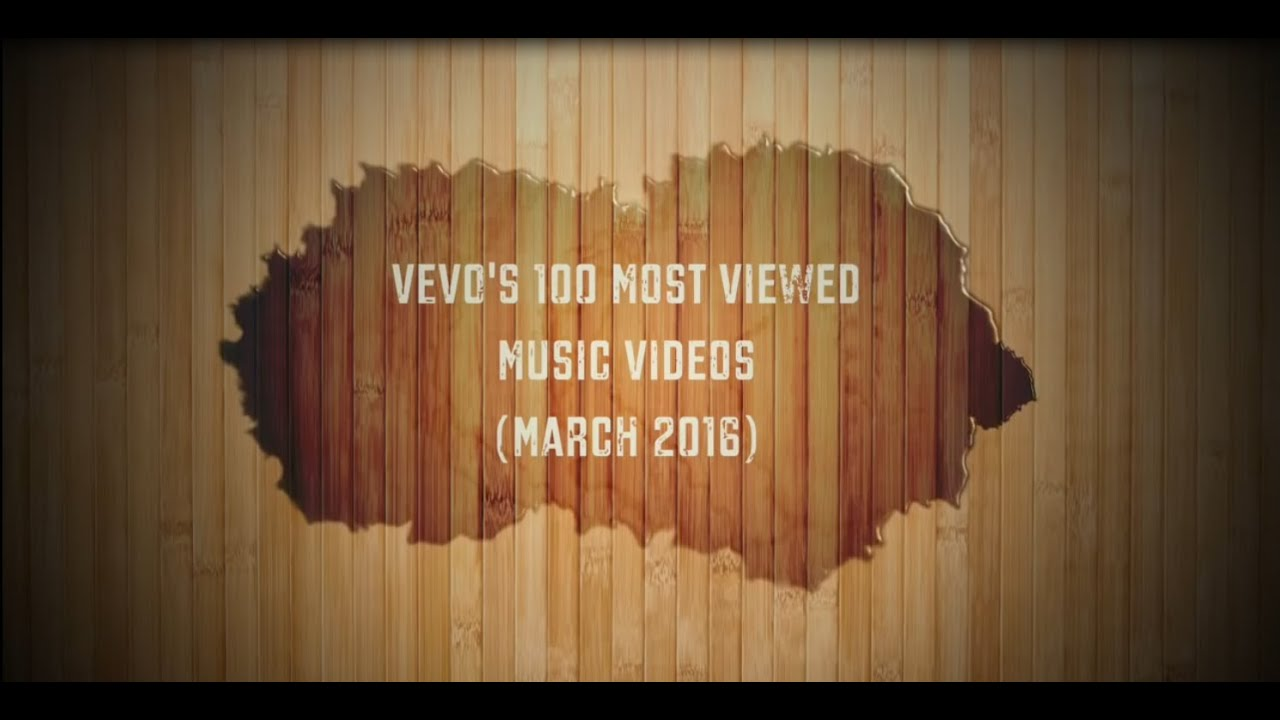 TOP 100 VEVO Most Viewed Videos (March)