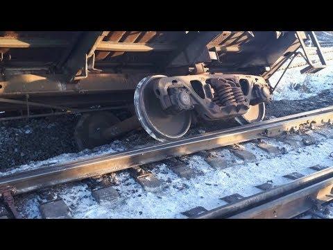 Поезд с бокситами РУСАЛа сошёл с рельсов