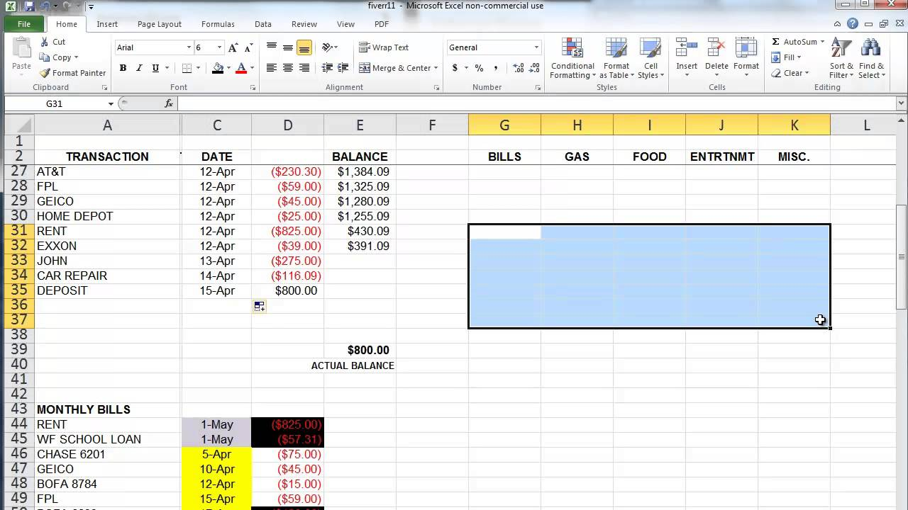 Worksheets How To Budget My Money Worksheet the basics of microsoft excel how to create a budget and manage your money youtube