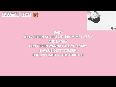 SELENA GOMEZ -RARE (lyrics)